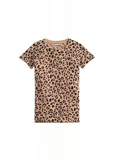 J.Crew Leopard Printed Short Sleeve Tee in Cashmere