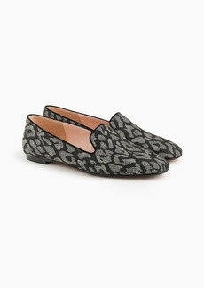 J.Crew Leopard smoking slippers