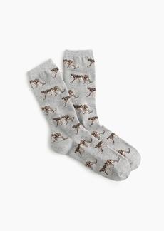 J.Crew Leopard trouser socks