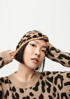J.Crew Leopard twist headband in supersoft yarn