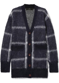 J.Crew Lian Checked Brushed Knitted Cardigan