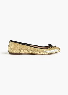 Lily ballet flats in crackled leather