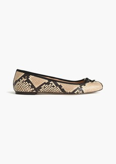Lily ballet flats in snakeskin-printed leather