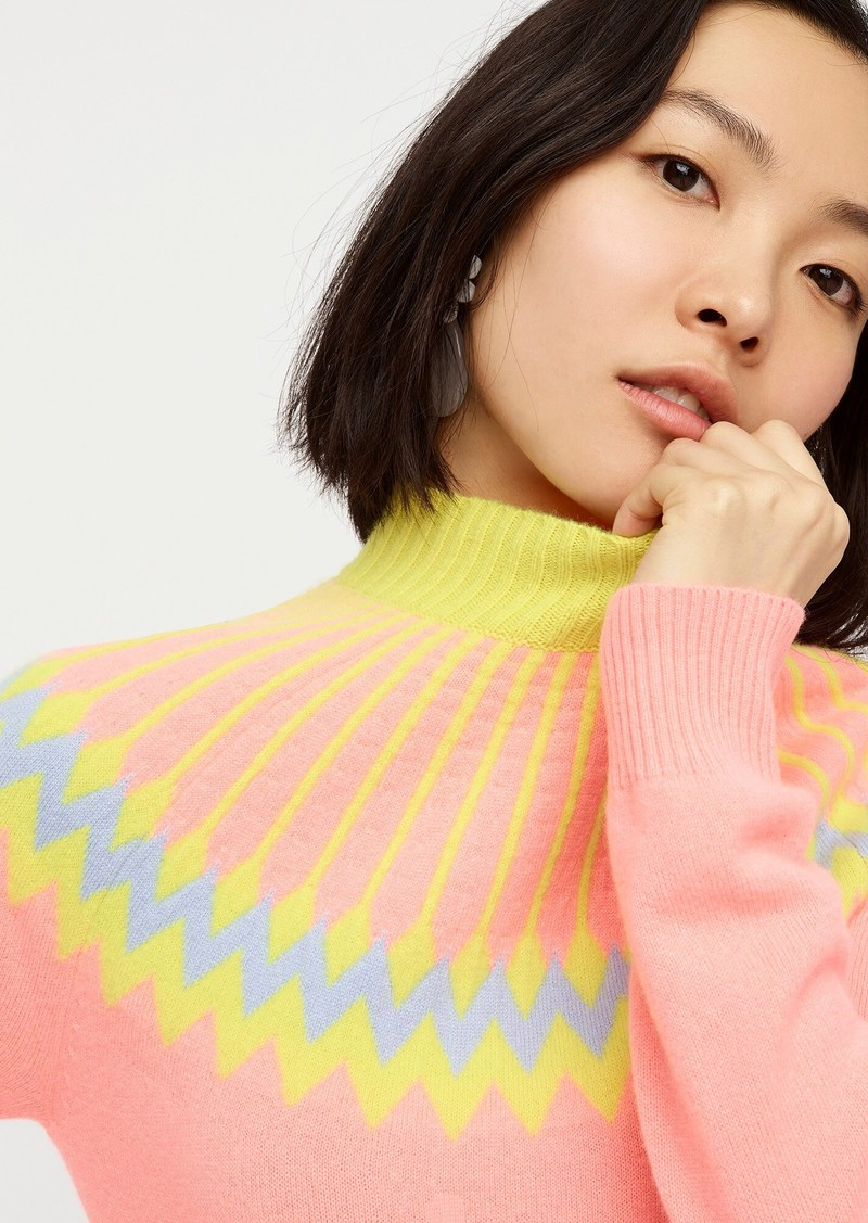 J.Crew Limited-edition cashmere mockneck sweater in Fair Isle