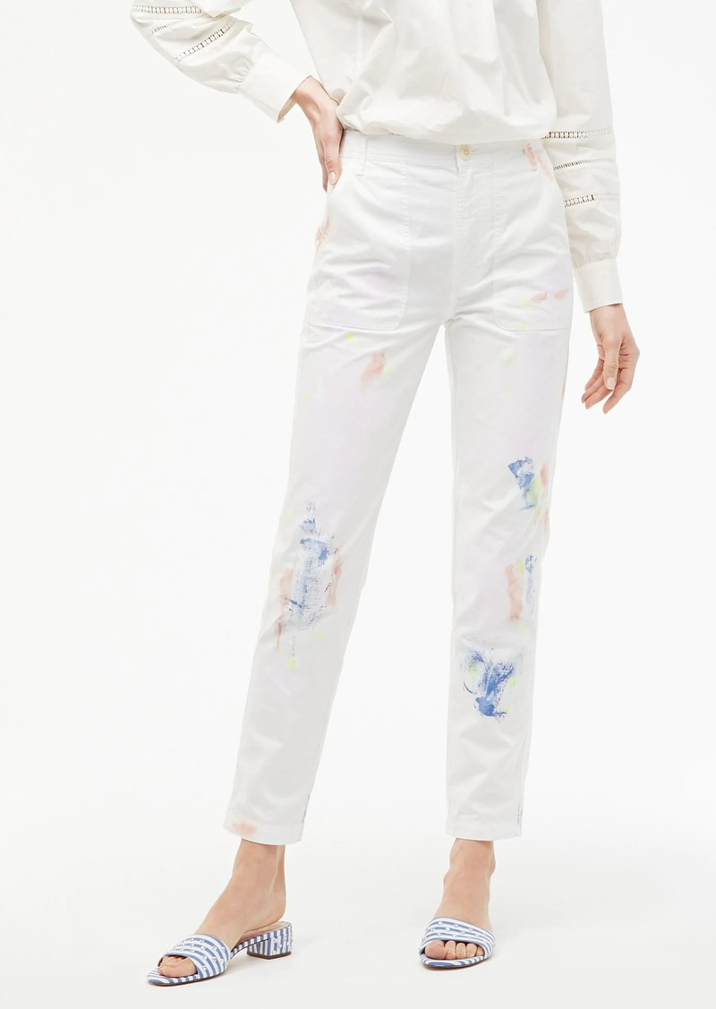 J.Crew Limited-edition painted tapered cargo pant