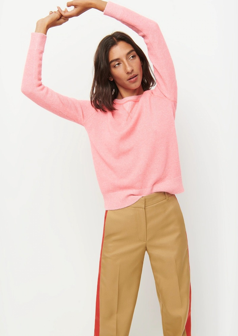 J.Crew Limited-edition two-tone cashmere crewneck sweater