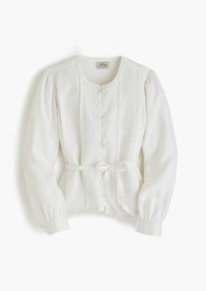 J.Crew Linen embroidered jacket