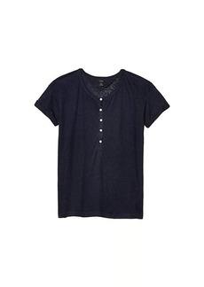 J.Crew Linen Roll Cuff Henley T-Shirt