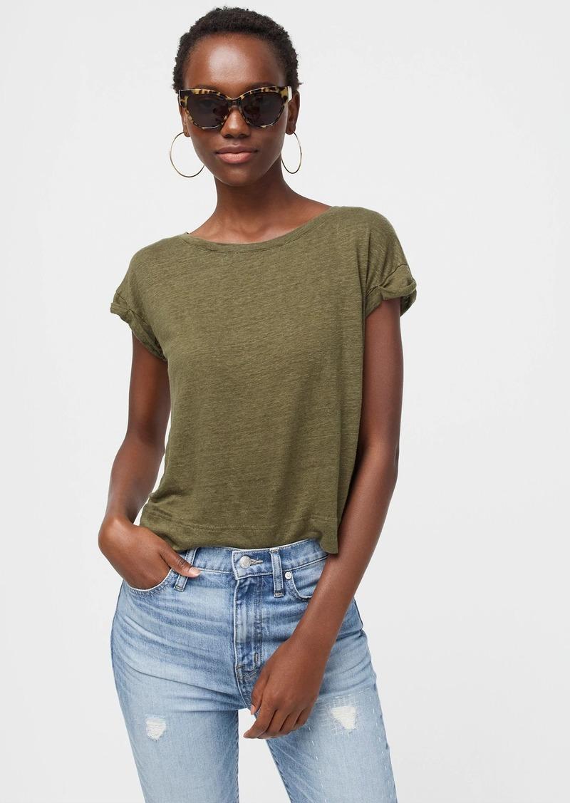 J.Crew Linen roll-cuff T-shirt
