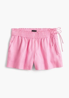 Linen short with side ties