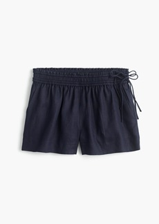 J.Crew Linen short with side ties