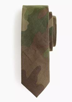 J.Crew Linen tie in camo