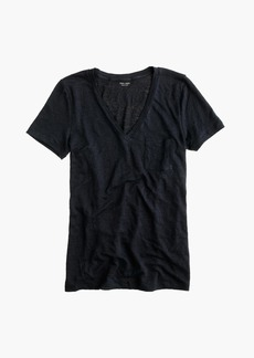 J.Crew Linen V-neck pocket T-shirt