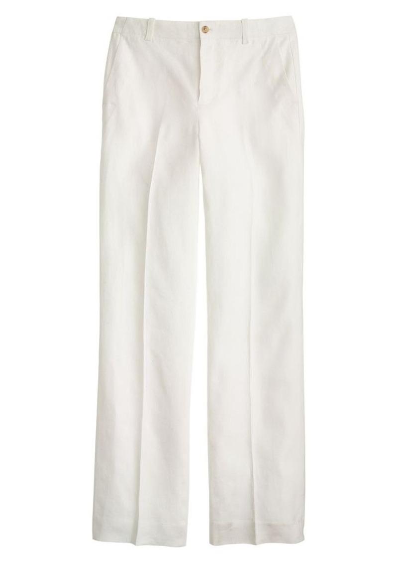 J.Crew Linen wide-leg trouser