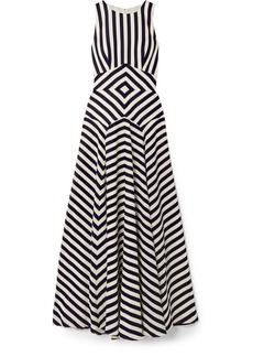 J.Crew Lisbeth Striped Crepe Maxi Dress