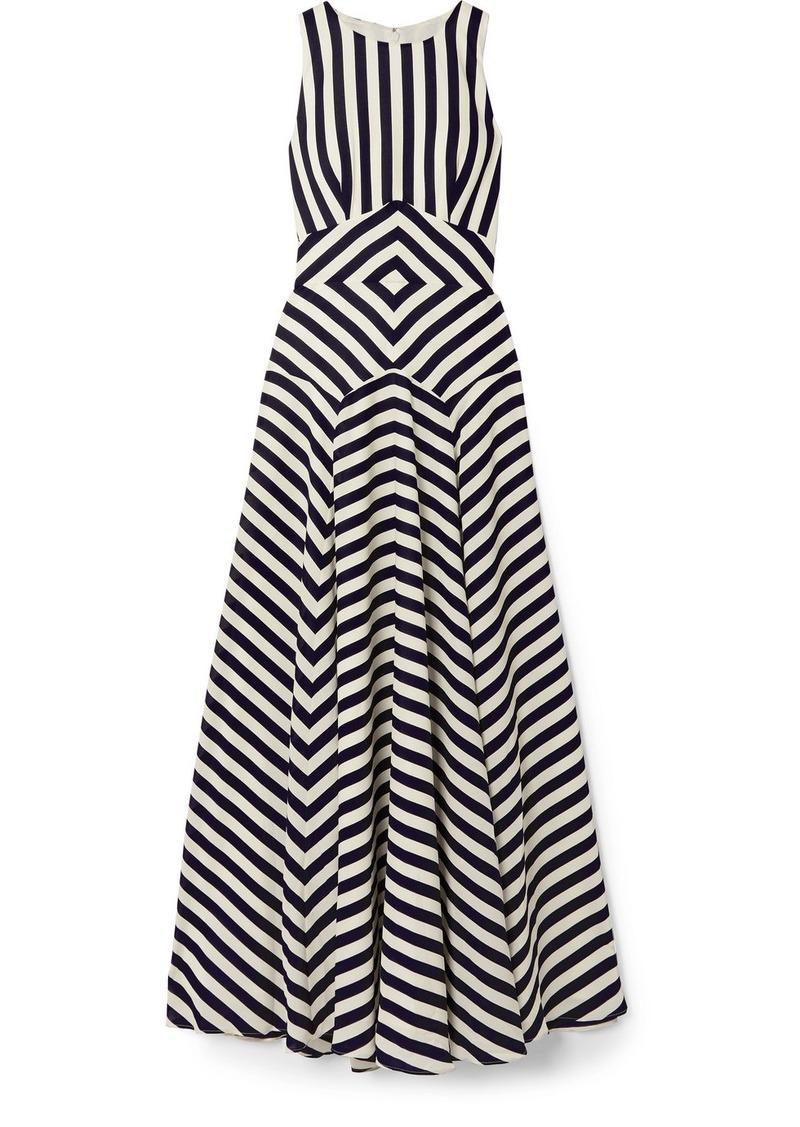 J.Crew Lisbeth Striped Crepe Maxi Dress