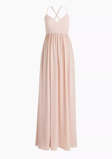 Long drapey spaghetti-strap dress