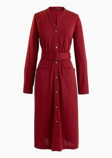J.Crew Long-sleeve belted knit dress