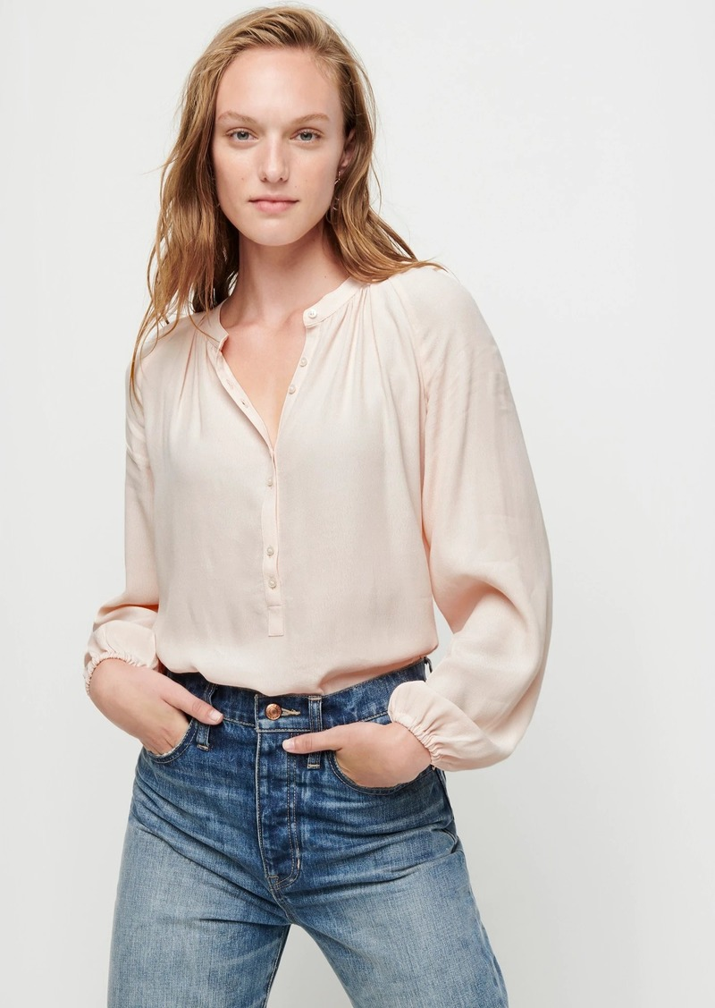 J.Crew Long-sleeve drapey popover top