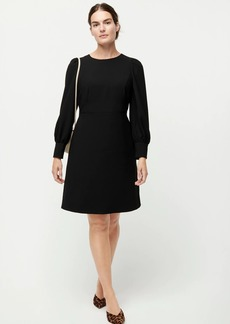 J.Crew Long-sleeve dress in 365 crepe