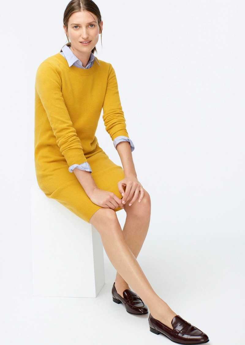 J.Crew Long-sleeve everyday cashmere crewneck dress