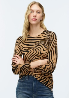 J.Crew Long-sleeve everyday cashmere crewneck sweater in zebra stripe