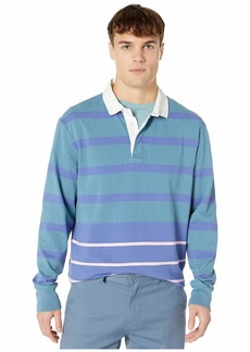 J.Crew Long-Sleeve Jersey Rugby Shirt in Mixed Stripe
