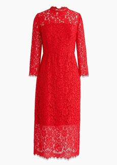 J.Crew Long-sleeve lace sheath dress