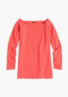 J.Crew Long-sleeve off-the-shoulder T-shirt