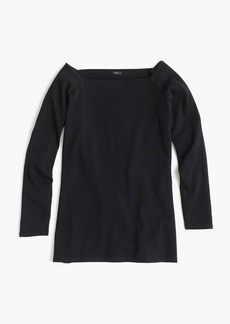J.Crew Long-sleeve off-the-shoulder T-shirt