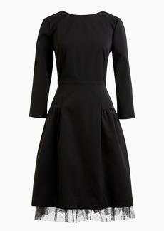 J.Crew Long-sleeve sheath dress with tulle hem