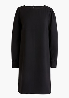 J.Crew Long-sleeve shift dress in everyday crepe