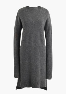Long-sleeve sweater-dress