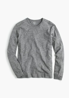 J.Crew Long-sleeve textured cotton T-shirt