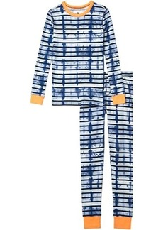 J.Crew Long Sleeve Tie-Dye Stripe Sleep Set (Toddler/Little Kids/Big Kids)