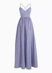 J.Crew Long spaghetti-strap dress in gingham