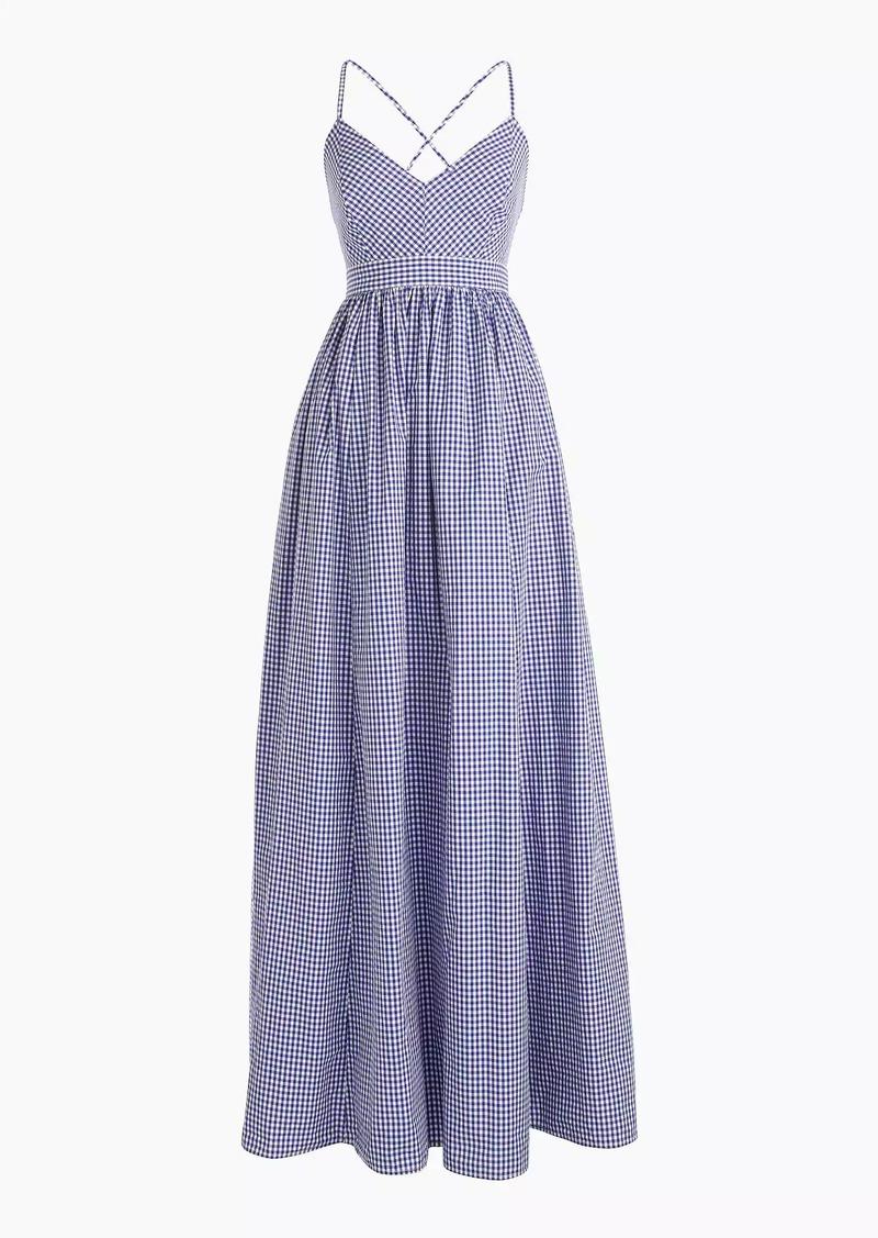 857cac8f359 J.Crew Long spaghetti-strap dress in gingham