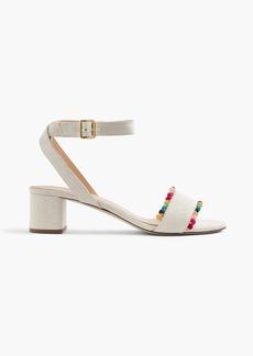 Lottie sandals with pom-poms