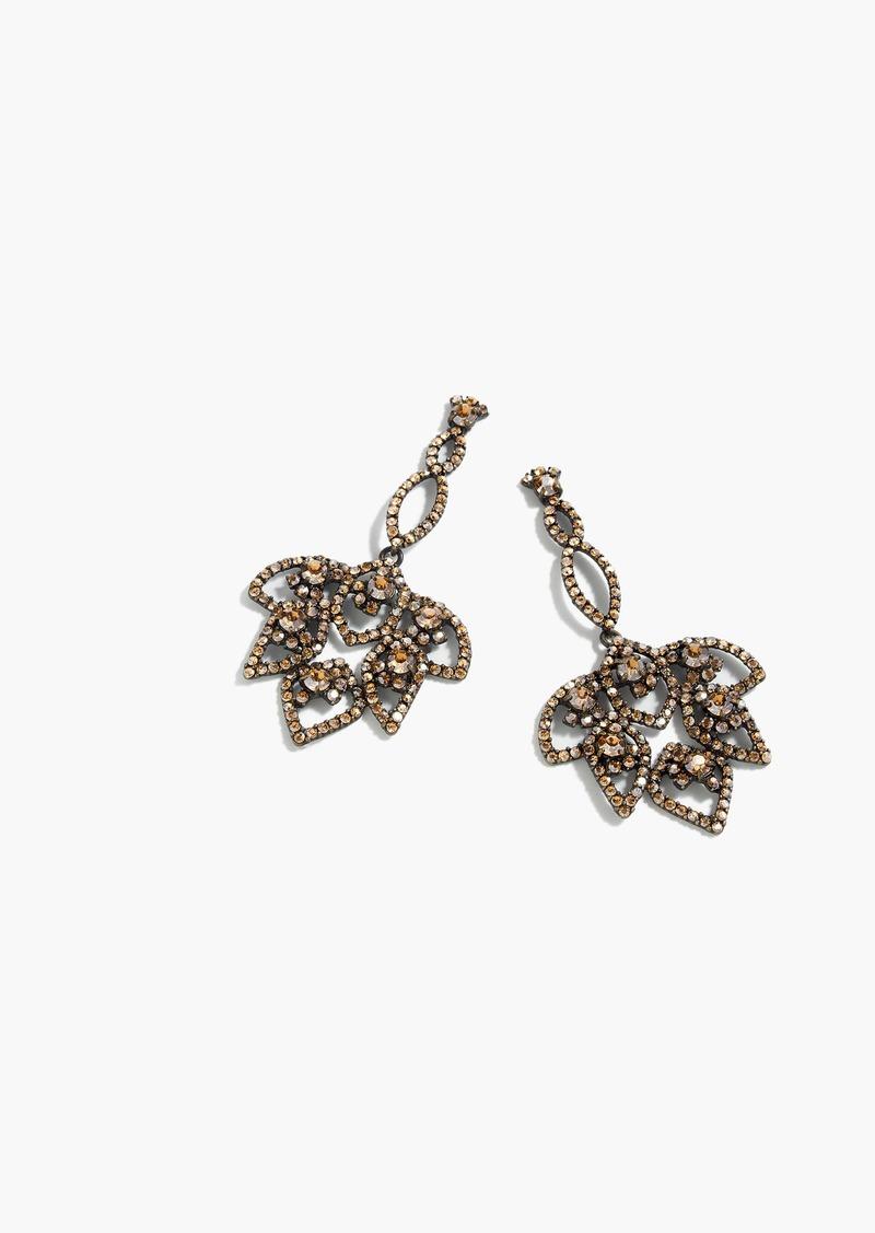 J.Crew Lotus pavé earrings
