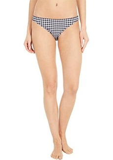 J.Crew Lowrider Bikini Bottoms in Matte Gingham