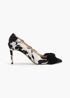 J.Crew Lucie bow pumps in floral shadow