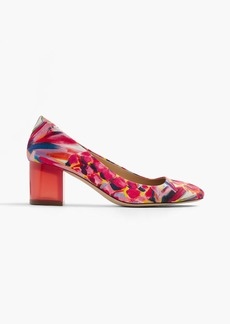 Lucite heels in Ratti® painted pineapple