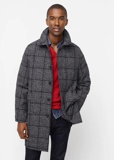 J.Crew Ludlow car coat in glen plaid wool blend