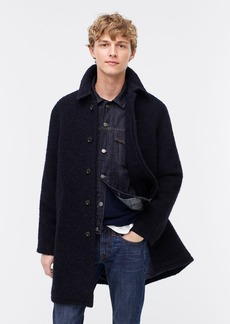 J.Crew Ludlow car coat in Italian bouclé wool