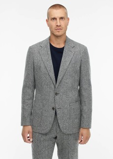 J.Crew Ludlow Classic-fit unstructured suit jacket in English herringbone wool-cotton