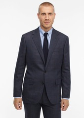 J.Crew Ludlow Classic-fit unstructured suit jacket in windowpane English herringbone wool