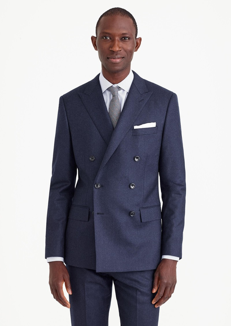 J.Crew Ludlow double-breasted suit jacket in heathered Italian ...