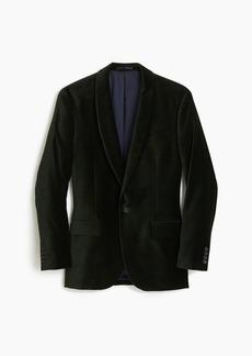 J.Crew Ludlow shawl-collar velvet blazer
