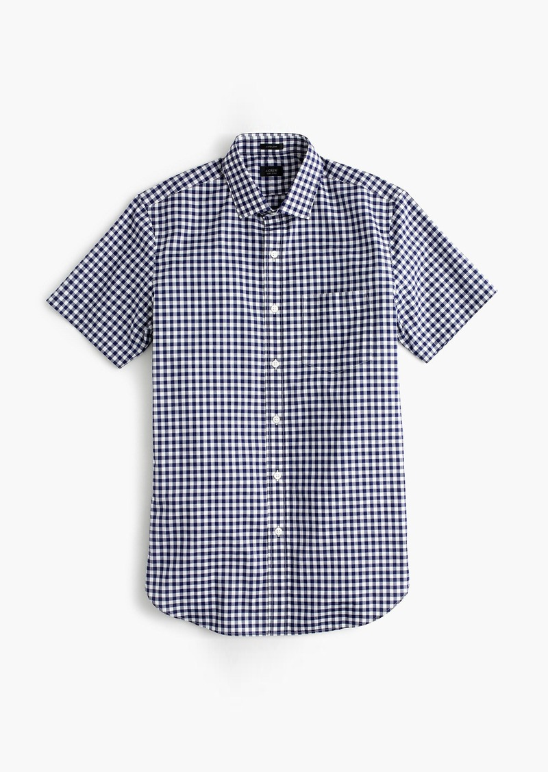J Crew Ludlow Short Sleeve Shirt In Classic Navy Gingham