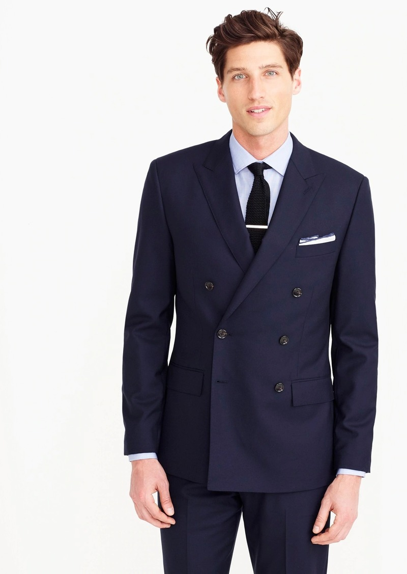 ab90152ad96329 J.Crew Ludlow Slim-fit double-breasted jacket in Italian wool ...